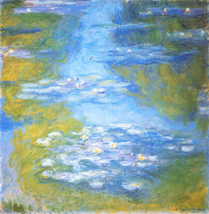famous painting Water Lilies (23) of Claude Monet