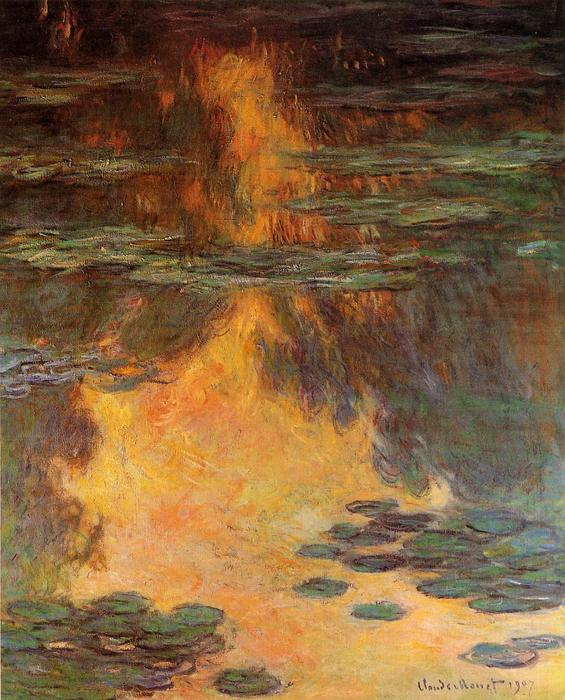 famous painting Water Lilies (33) of Claude Monet