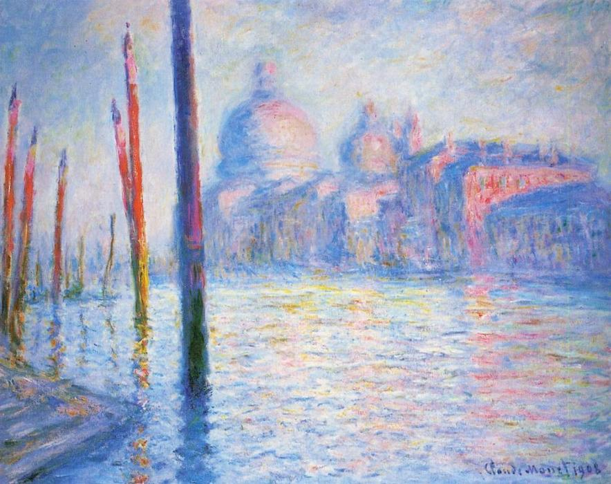 famous painting The Grand Canal 02 of Claude Monet