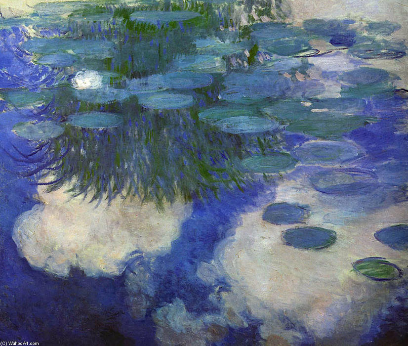 famous painting Water Lilies (45) of Claude Monet