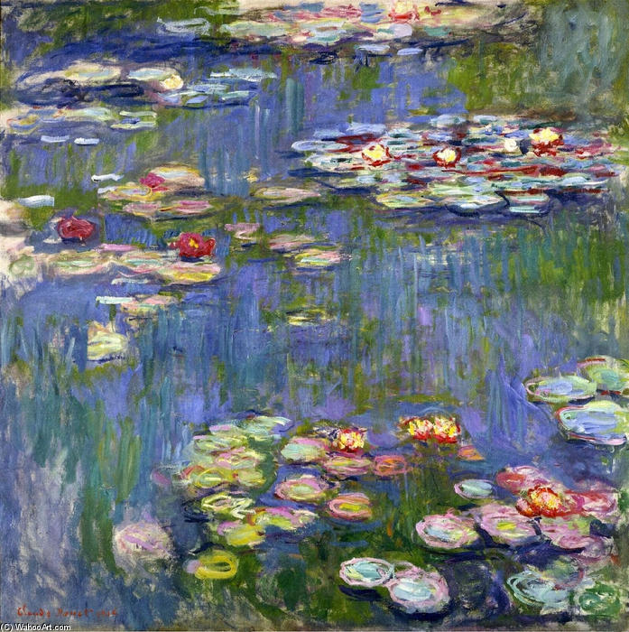 famous painting Water Lilies (47) of Claude Monet