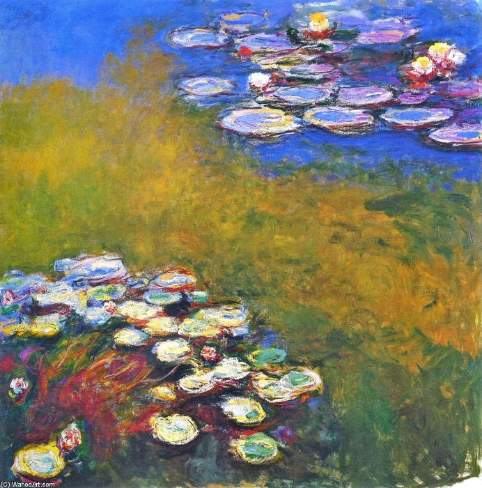 famous painting Water Lilies (51) of Claude Monet
