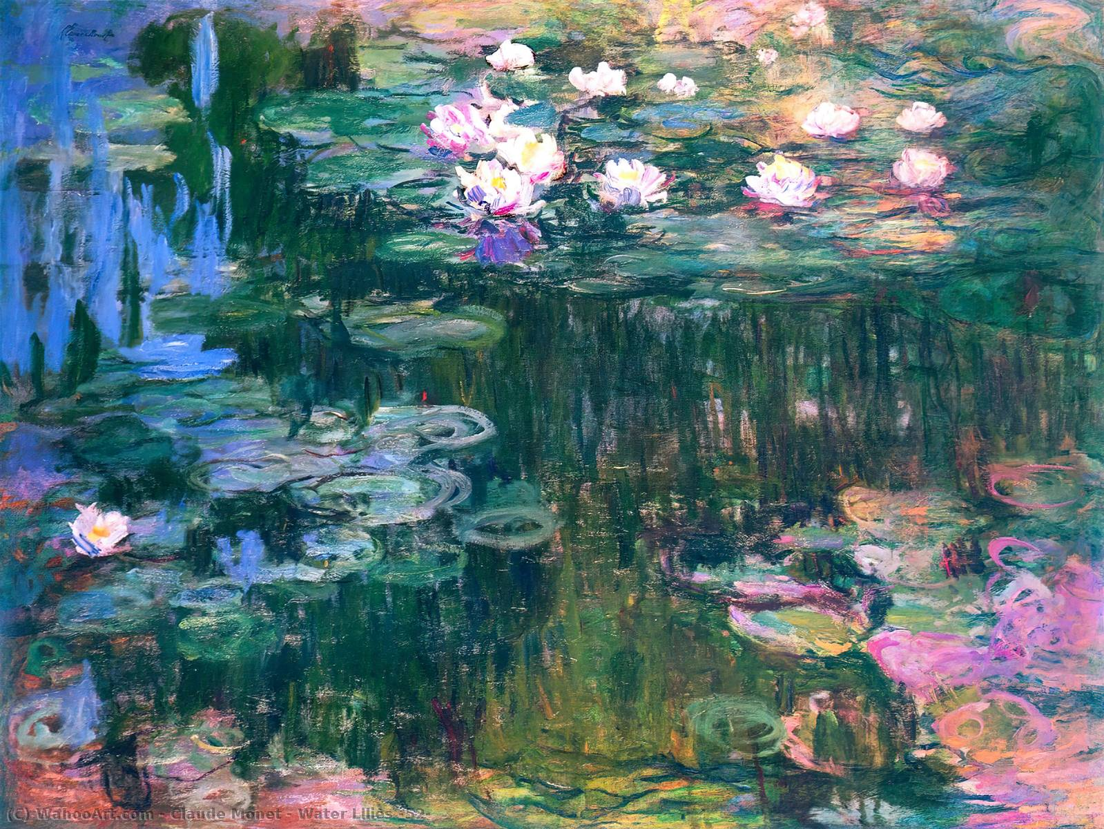 famous painting Water Lilies (52) of Claude Monet