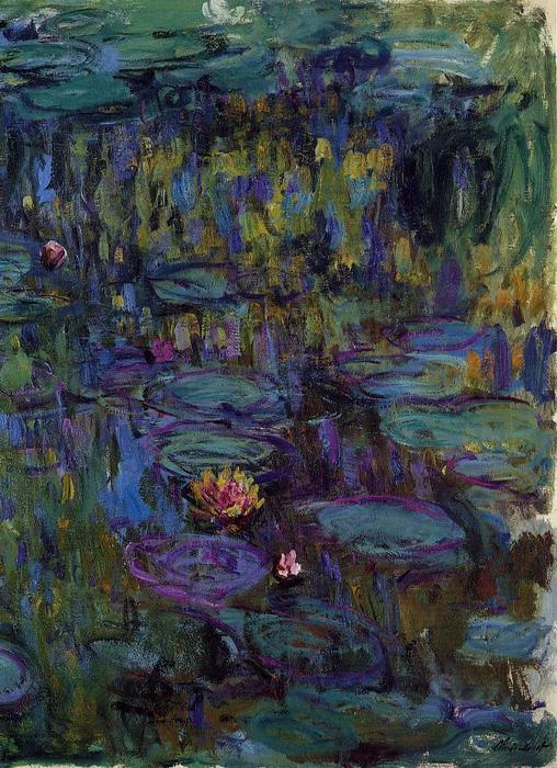 famous painting Water Lilies (55) of Claude Monet