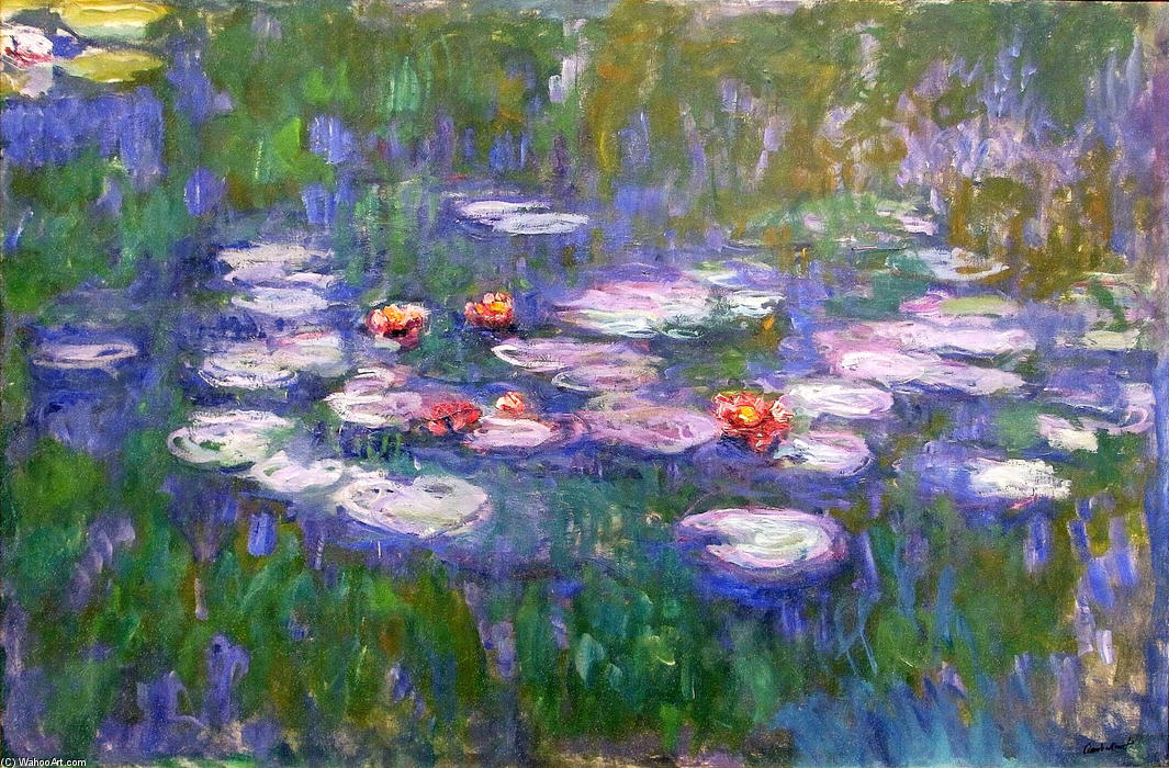 famous painting Water Lilies (62) of Claude Monet