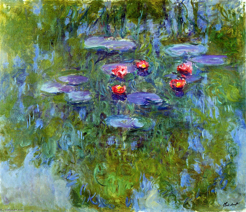 famous painting Water Lilies (63) of Claude Monet
