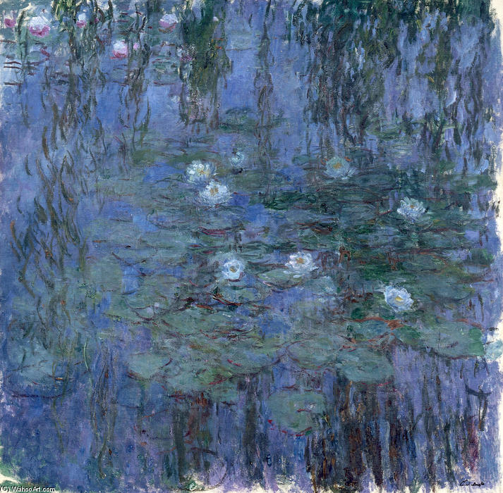 famous painting Water Lilies (65) of Claude Monet