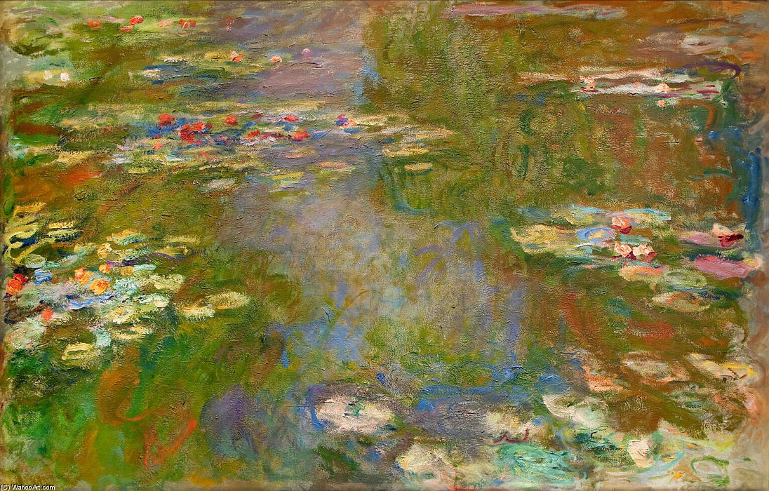 famous painting Water Lilies (70) of Claude Monet