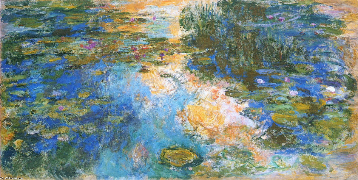 famous painting Water Lily Pond (9) of Claude Monet