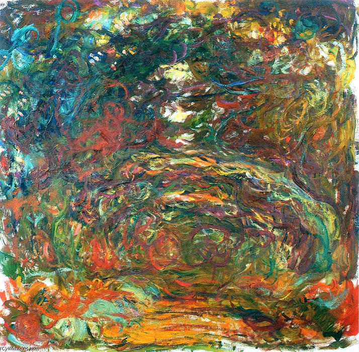 famous painting Path under the Rose Arches, Giverny of Claude Monet