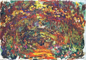 Claude Monet - Path under the Rose Trellises, Giverny