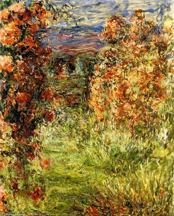 famous painting The House among the Roses 2 of Claude Monet