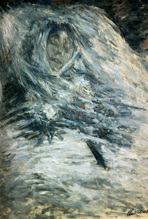 famous painting Camille Monet On Her Deathbed of Claude Monet