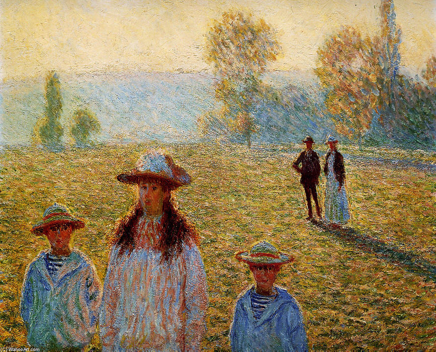 famous painting Landscape at Giverny of Claude Monet