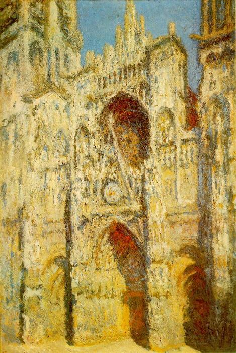 famous painting Rouen Cathedral, The Gate and The Tower of Claude Monet