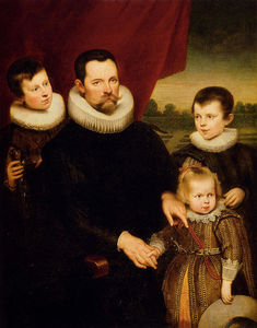 Cornelis De Vos - Portrait of a Nobleman and Three Children