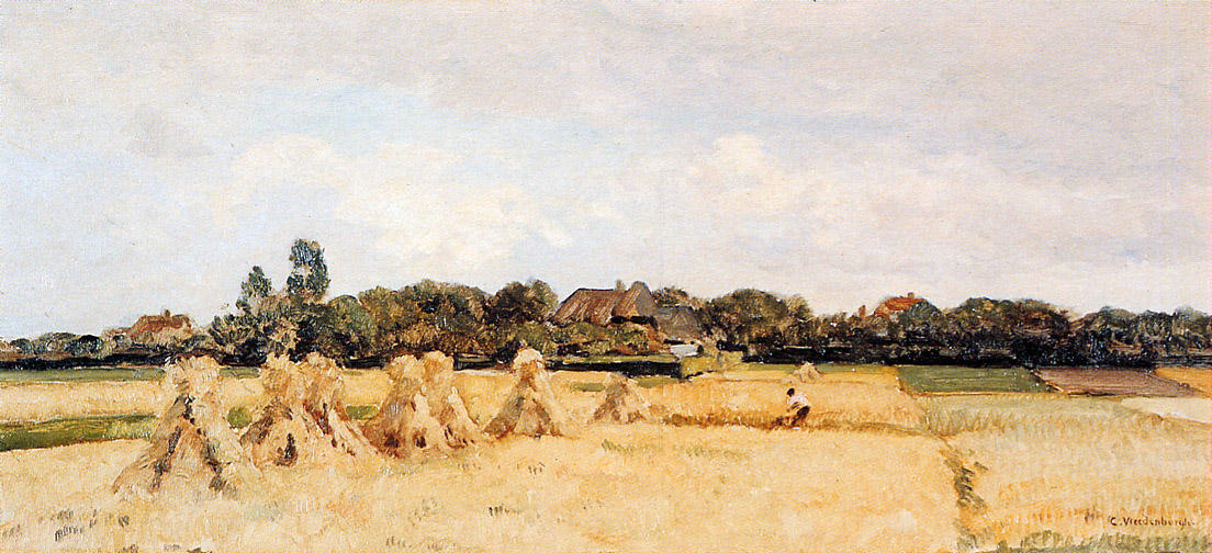 famous painting Corn Sheafs In Gooi of Cornelis Vreedenburgh