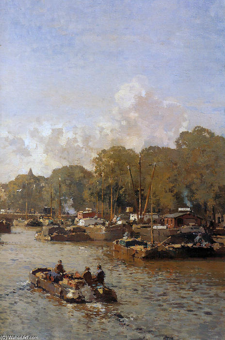 famous painting View on the Amstel of Cornelis Vreedenburgh
