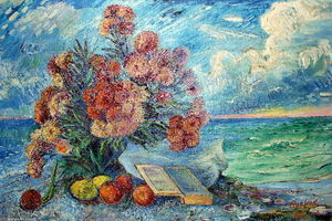 David Davidovich Burliuk - Bouquet by the sea