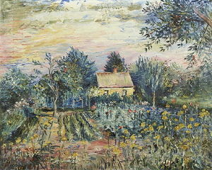 David Davidovich Burliuk - Summer Gardens Near the House