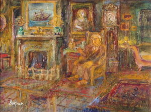 David Davidovich Burliuk - Walkowitz at Home