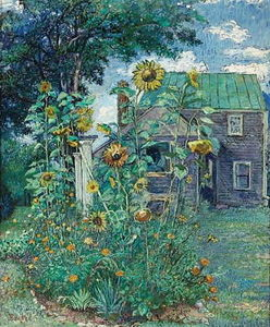 David Davidovich Burliuk - Artist's house in Hampton Bays
