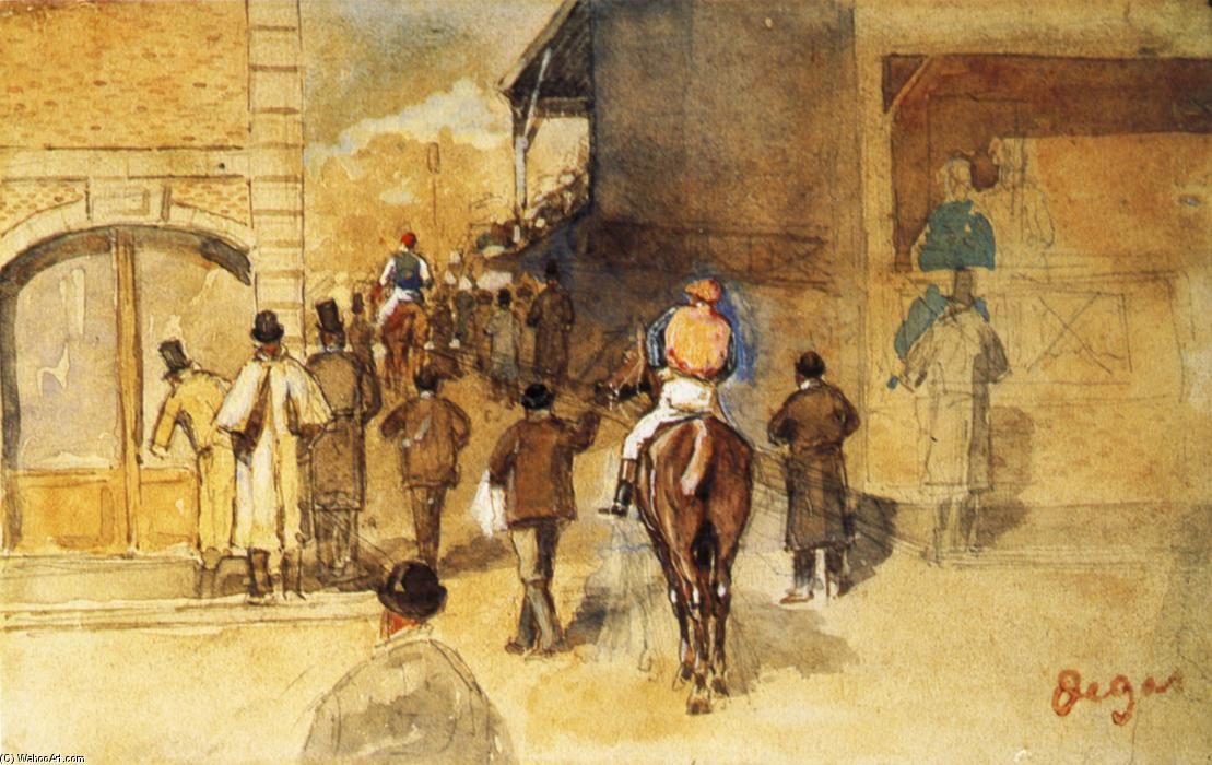 famous painting Exit from Weighing of Edgar Degas
