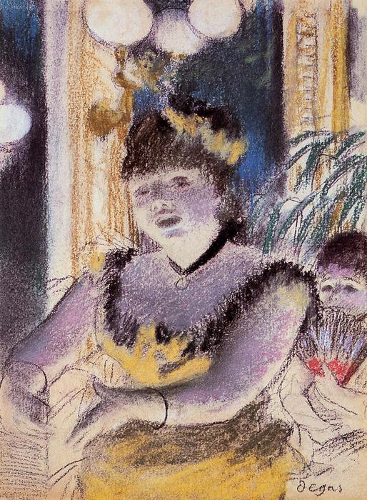 famous painting Cafe-Concert Singer of Edgar Degas