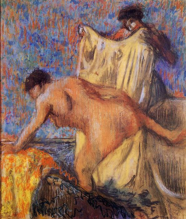 famous painting Woman Leaving Her Bath of Edgar Degas