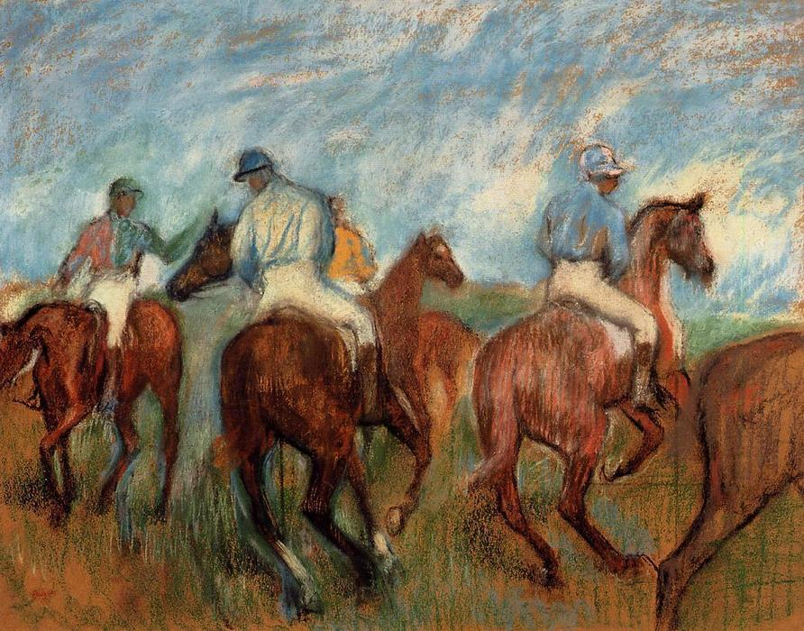 famous painting Jockeys of Edgar Degas