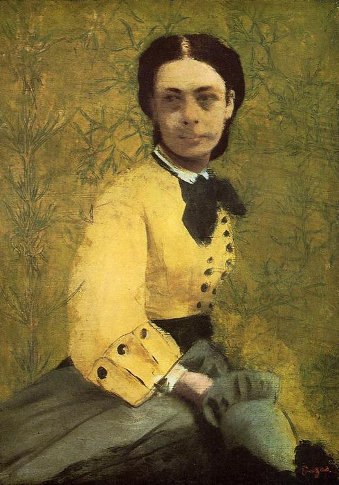 famous painting Portrait of Princess Pauline de Metternich of Edgar Degas