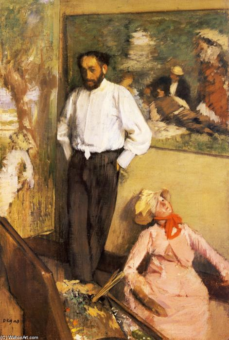 famous painting Portrait of Henri Michel-Levy in his studio of Edgar Degas
