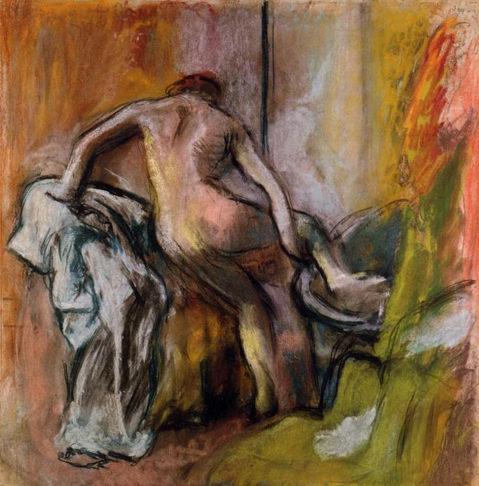famous painting Leaving the Bath of Edgar Degas