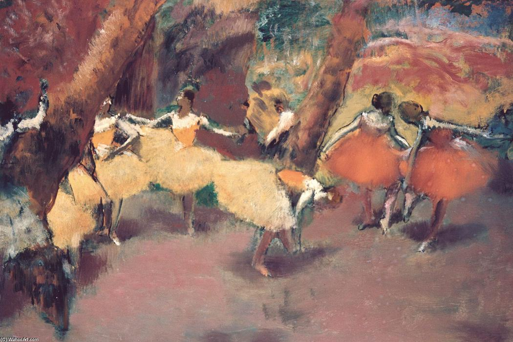 famous painting Before the Performance of Edgar Degas