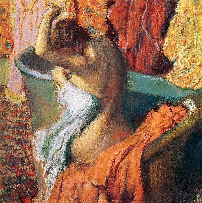 famous painting Seated Bather of Edgar Degas