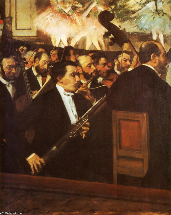 famous painting Orchestra of the Opera of Edgar Degas
