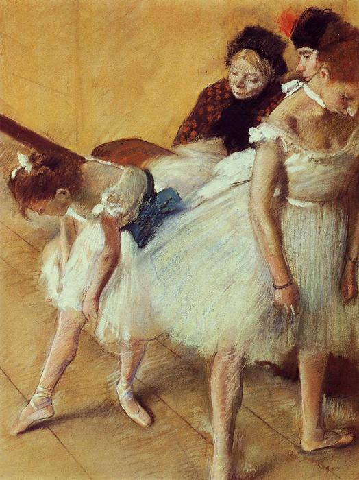 famous painting The Dancing Examination of Edgar Degas