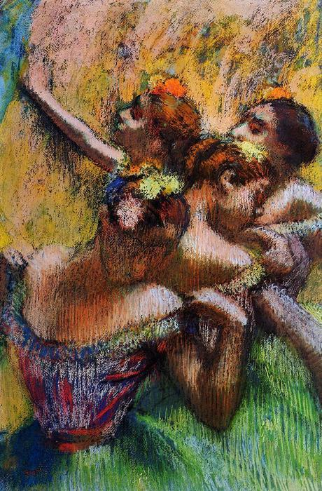 famous painting Four Dancers of Edgar Degas