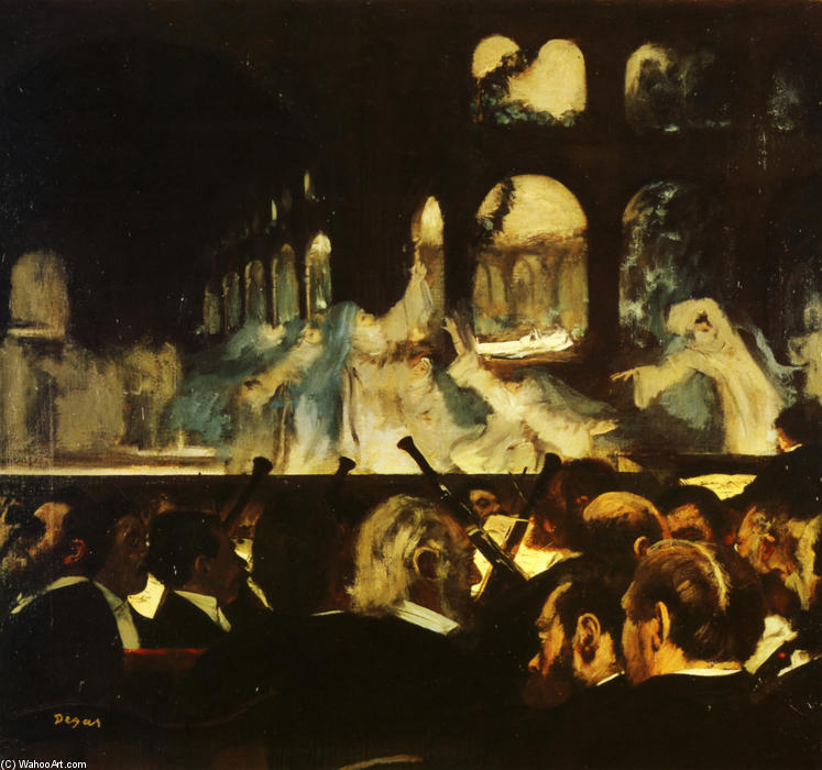 famous painting Ballet Scene from Robert la Diable of Edgar Degas