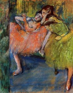 Edgar Degas - Two Dancers in the Foyer