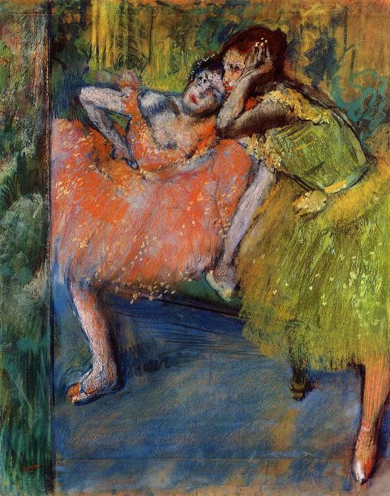 famous painting Two Dancers in the Foyer of Edgar Degas
