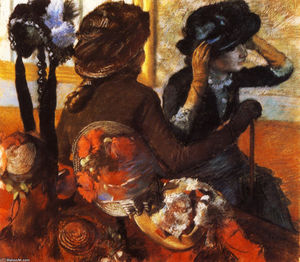 Edgar Degas - At the Milliner's
