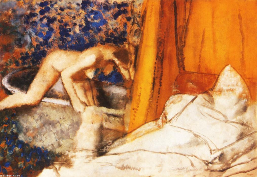 famous painting The Bath of Edgar Degas