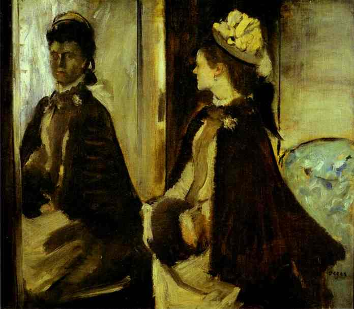famous painting Madame Jeantaud in the mirror of Edgar Degas