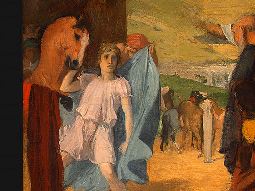 famous painting Alexander and Bucephalus (detail) of Edgar Degas