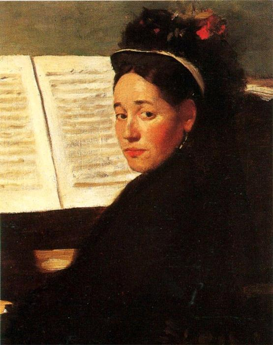 famous painting Mademoiselle Didau at the Piano of Edgar Degas