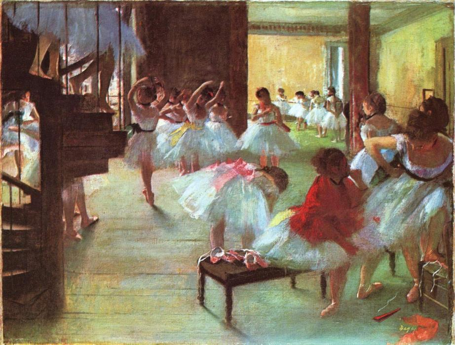 famous painting Ballet School of Edgar Degas