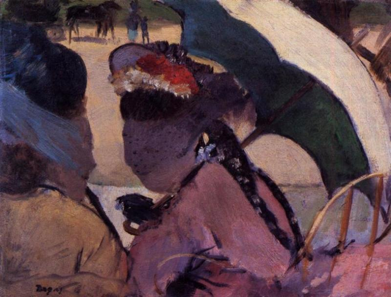 famous painting At the Races of Edgar Degas