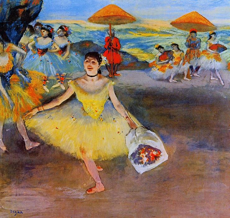 famous painting Dancer with a Bouquet Bowing of Edgar Degas