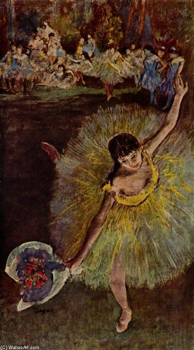 famous painting Dancer with Bouquet of Edgar Degas